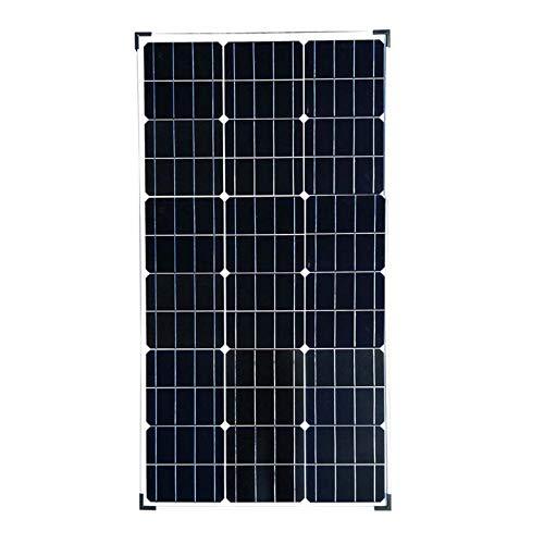 Wgwioo 86W 18V Kit De Panel De Arranque Solar, Alta Eficiencia del Módulo Fotovoltaico Monocristalino, por Barco, Caravana, Autocaravanas Y Otras Aplicaciones Fuera De La Red