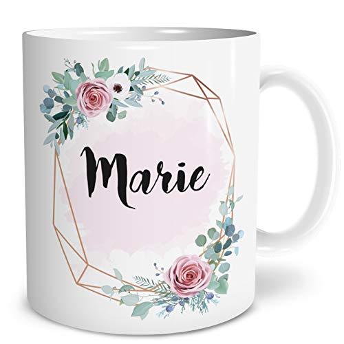 OWLBOOK Wunschname Große Kaffee-Tasse mit Spruch im Geschenkkarton Personalisiert mit Namen Geschenke Geschenkideen für Mama zum Geburtstag