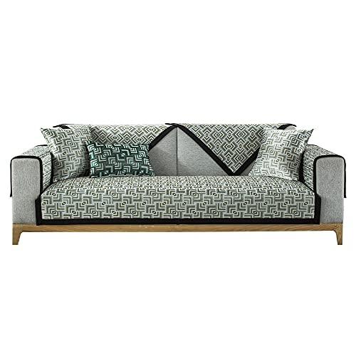 YUTJK Summer Silk Silk Mat Sofa Cushion,Composable Antideslizante Resistente Anti-Suciedad Sofá Cubierta,Funda Protector De Los Muebles,Beige_70×90cm