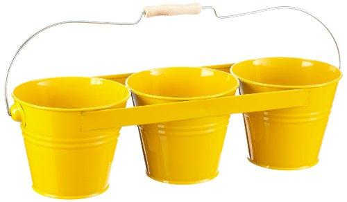 Siena Garden 722648 Blumentopf 3 fach gelb mit Bügelgriff