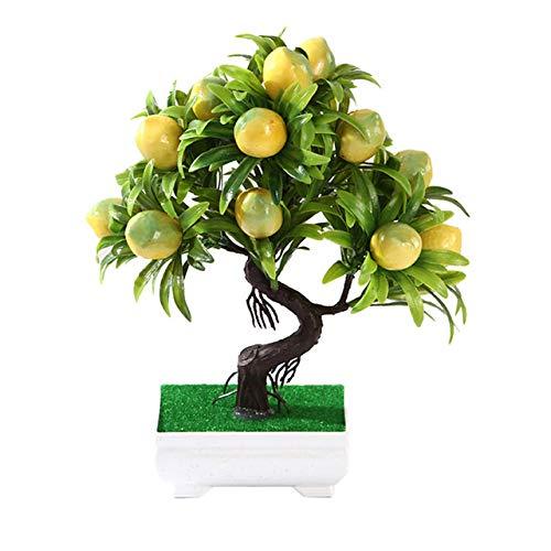HONIC Orange Pfirsich Obstbaum im Topf Simulation Pflanzen Bonsai Künstliche Pflanzen Home Office Decor DIY Topfpflanzen Ornaments: 06