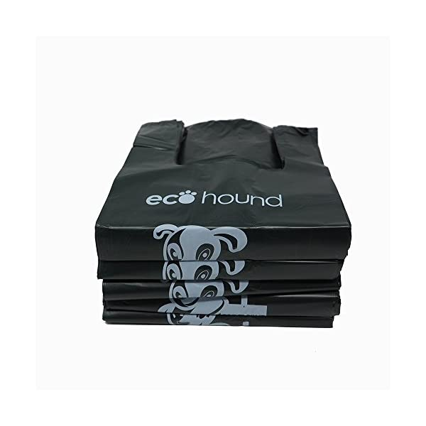 Ecohound 500 Large Thick Premium Quality Dark Green Dog Waste Bags With Easy Tie Handles, Thick Strong Leak Proof 17… 1