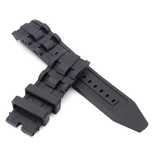 DyNamic 26mm Gummi-schwarzer Uhrenband für Invicta Pro Diver 6977-6978-6981-6983