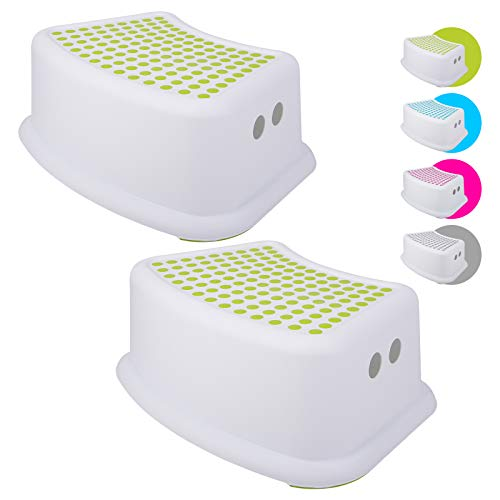 Step Stool for Kids (2 Pack), Toddlers Stool for Potty Training, Bathroom, Kitchen, Bedroom, Toy...