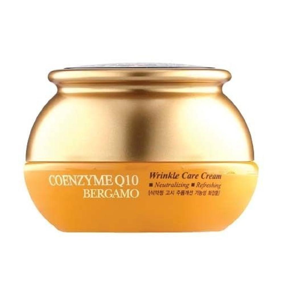 スツール専制それるベルガモ[韓国コスメBergamo]Coenzyme Q10 Wrinkle Care Cream コエンザイムQ10リンクルケアクリーム50ml しわ管理 [並行輸入品]
