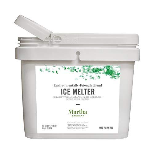 Martha Stewart 25LB Blended Ice Melter | Resealable Bucket Scoop | Environmentally Friendly | Pet Safe