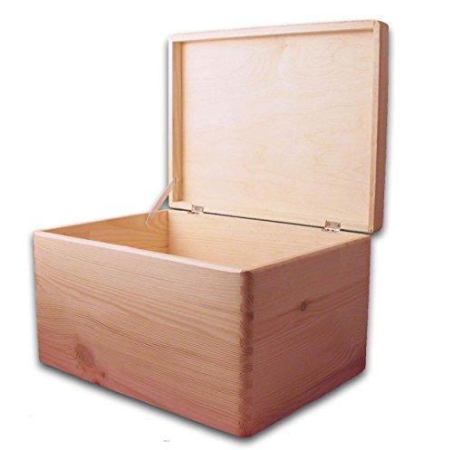 MidaCreativ Aufbewahrungsbox/Holzbox mit Deckel ohne Grifflöcher Kiefer, Gr. 3