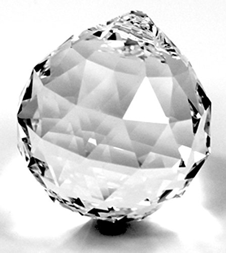 Caja de regalo con bola de cristal Spectra® Crystal de Swarovski de 40 mm, para lámparas de araña, decoración de ventanas, Feng Shui, efecto arcoíris