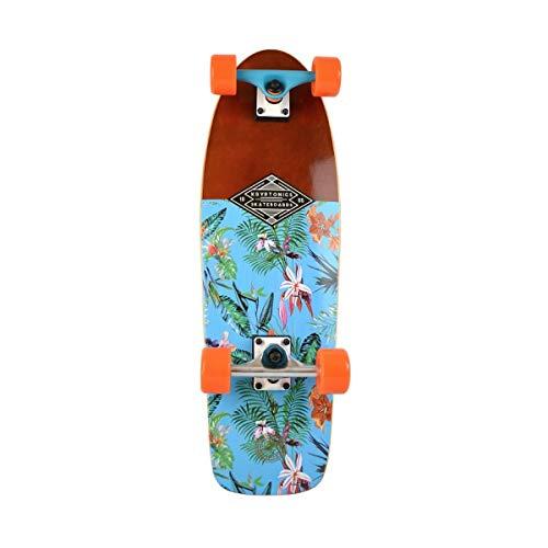 """Kryptonics Cruiser-Skateboard aus Ahornholz, 71,1 cm, komplett – """"Resort Blue""""-Grafik"""