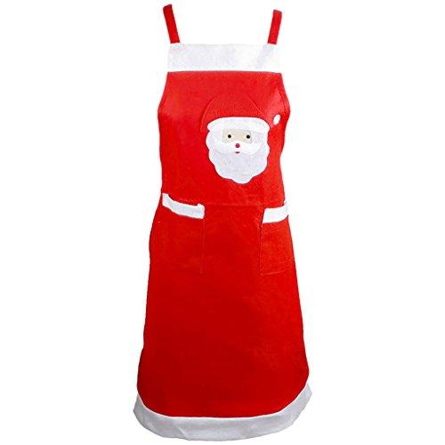 Générique Femme Homme Tablier de Père Noël Accessoire Décoration Noël Creative