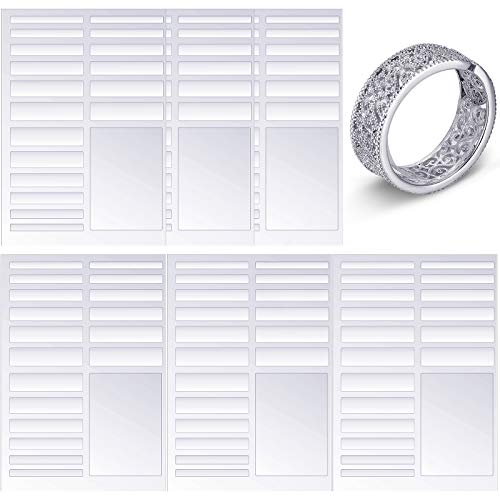 Ring Size Adjuster for Loose Ring Clear Invisible Ring Size Reducer Jewelry Guard Sizer Loose Ring Tightener Fit Any Rings for Preventing Ring from Loosening and Slipping Off (6Sheets)