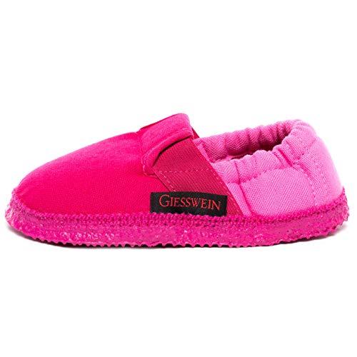 Giesswein Aichach, Flache Hausschuhe Unisex Kinder, Pink, 33 EU