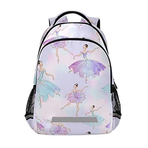 Wunderbare Ballerina Mädchen Rucksäcke Student Rucksack Büchertasche für Jungen Mädchen Casual Tasche