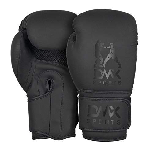 Boxing Gloves for Training, Sparring, Boxing, Kick Boxing, MMA & Muay Thai . (Pair) (Black Dull, 14 oz)