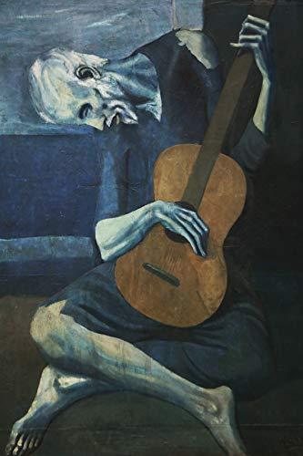 WallBuddy The Old Guitarist von Pablo Picasso 1903 Picasso Art Picasso Gemälde Großes Gemälde Modernes Gemälde Der Mann mit der blauen Gitarre Gemälde (18 x 24)
