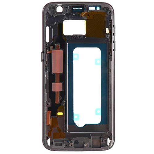 MMOBIEL LCD Cover Abdeckung Gehäuse Rahmen kompatibel mit Samsung Galaxy S7 G930 (Schwarz/Grau) inkl. Power Knopf/Lautstärkeregler vormontiert