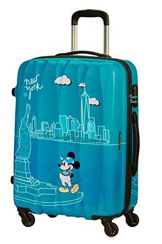 American Tourister Disney Legends - Spinner M Suitcase, 65 cm, 62.5 Litre, Turquoise (Take Me Away Mickey Nyc)