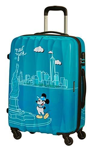 American Tourister Disney Legends - Spinner M Maleta, 65 cm, 62.5 L, Turquesa (Take Me Away Mickey NYC)