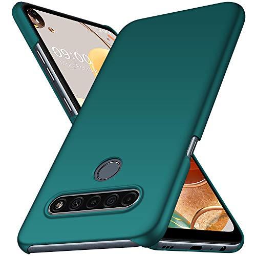 Avalri für LG K61 Hülle, Superdünne Handyhülle Hardcase aus PC Stoß- & Kratzfest Kompatibel mit LG K61 (Green)
