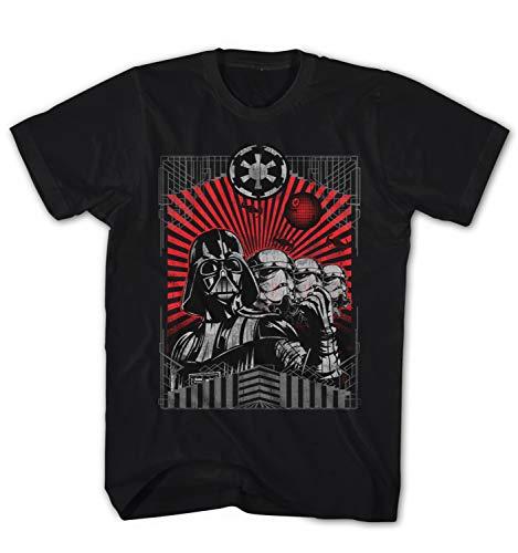 Herren T-Shirt Darth Vader Trooper - The Dark Side Wars Movie Film Star, Farbe:Schwarz, Größe:5XL