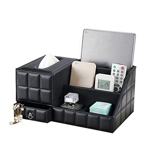HYLK Aufbewahrungsbox Einfaches Leder Multifunktionaler Wohnzimmer-Couchtisch Desktop-Handy Fernbedienung Aufbewahrungsbox (Farbe: A)