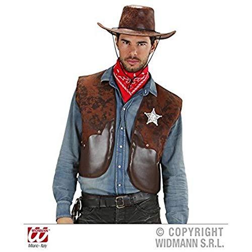 Widmann 7584W Cowboy Weste, Herren, Braun, M/L