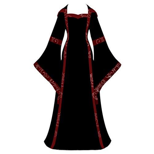 Startview Women's Vintage Celtic Medieval Floor Length Renaissance Gothic Cosplay Dress