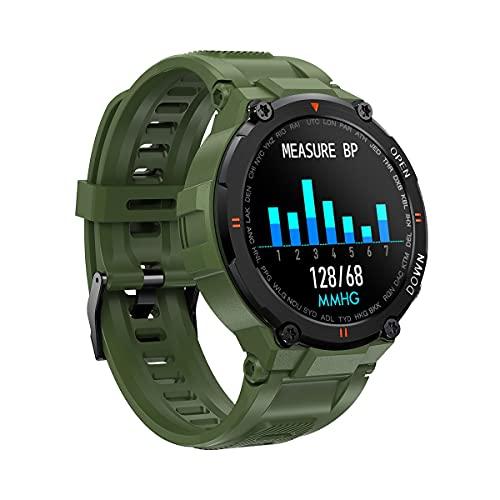 KaiLangDe Smartwatch Reloj Inteligente con Pulsómetro Cronómetros Calorías Monitor de Sueño Podómetro Monitores de Actividad Impermeable Reloj Deportivo para Android iOS Pulsera (Color : Army Green)