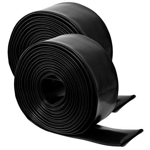 """2 Pack 1.5"""" x 50' Swimming Pool Backwash Hose- Weather Resistant Heavy Duty PVC Lay-Flat Water Discharge Hose General Purpose Reinforced Pool Drain Hose for While Back-Washing Filter and Draining Pool"""
