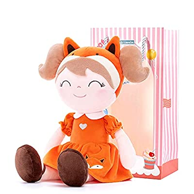 "Gloveleya Baby Doll Girl Gifts Soft Plush Fox Dolls 14"" with Gift Box by Gloveleya"