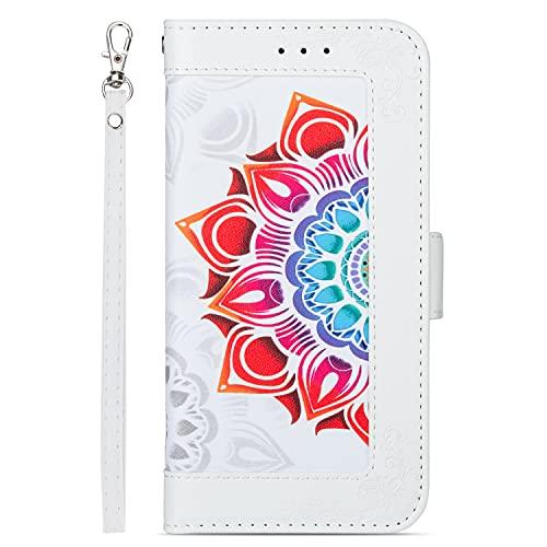 Funda protectora para Samsung Galaxy J7 2018 estilo cartera funda de cuero impreso de alta calidad PU cuero doble hebilla magnética Flip Cover caso protector a prueba de golpes adecuado para Sam