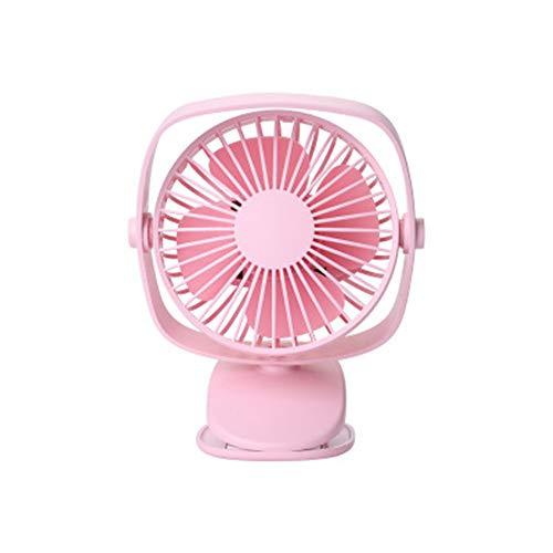 NOTUO 3-Speed Clip Fan Mini USB-ventilator Persoonlijk 360 graden draaibaar draagbaar voor slaapkamer kantoor thuis, Pink