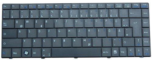 NExpert QWERTZ Tastatur für Medion Akoya E1212 E1213 Series DE Schwarz