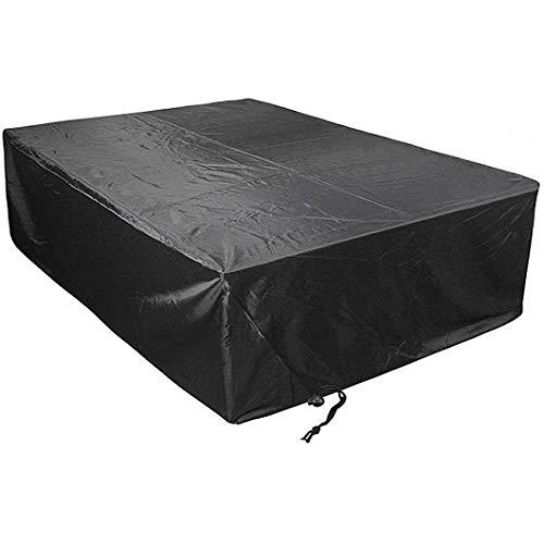 CTTAO Conjuntos de Muebles 210x110x70cm Resistente al Desgarro Anti Viento/UV, Funda para Mesa Polyester, para Muebles de Jardín y Exteriores, Sofa de Patio, Negro