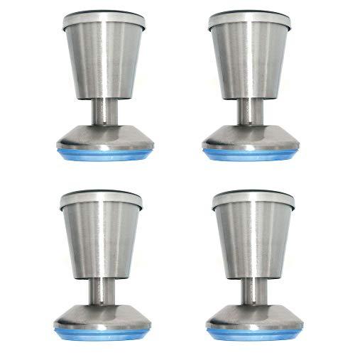 NUZAMAS - Set di 4 piedini da cucina, piano di lavoro, a forma di tazza, altezza 80 mm, unità per...