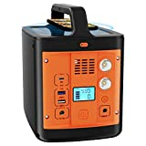 WESTLEY Portable Power Station 298Wh/92800mAh, Solar Outdoor Generator with AC(110V, 200W)/ DC/ USB/ Type-C/ SOS Light, Backup Battery for Camping, Traveling, Hunting   WT300Y