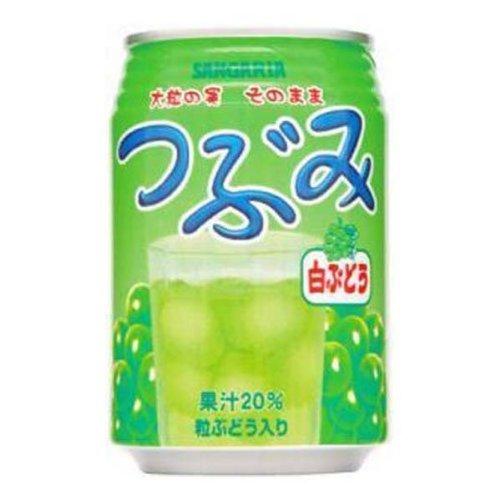 サンガリア つぶみ 白ぶどう 280ml缶×48本[2CS]