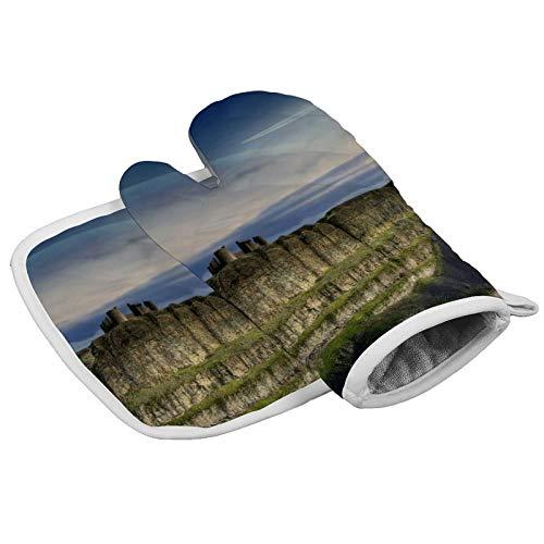 MayBlosom Guantes de horno Dreamy Mountain World - Juego de guantes y soportes para ollas resistentes al calor para horno de microondas y horno para barbacoa