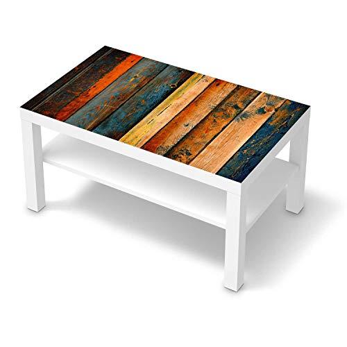 creatisto Klebe-Folie Möbel passend für IKEA Lack Tisch 90x55 cm I Möbelfolie - Möbel-Folie Tattoo Sticker I Schöner Wohnen für Schlafzimmer und Wohnzimmer - Design: Wooden