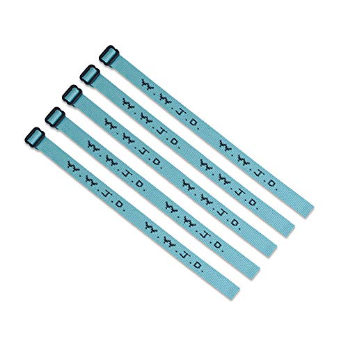 (5) Pack - W.W.J.D. Bracelets - 22 Individual Colors to Choose from - Mix and Match (Turquoise & Black)