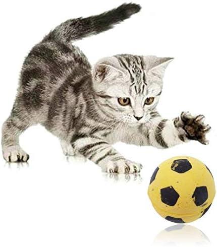 Excellence Popular Cat Toy- 4 Pcs Sponge Toys Soccer Kitty Football Balls