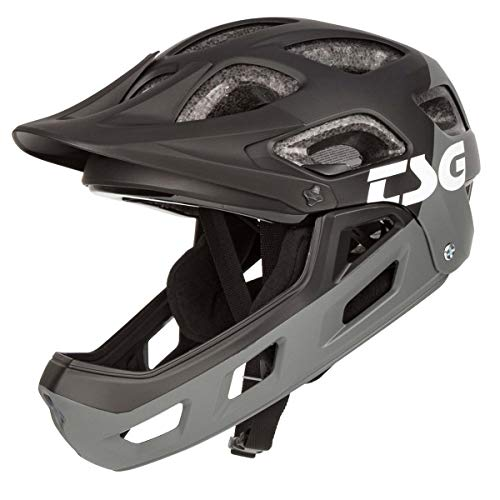 TSG Kids Downhill MTB-Helm Seek Youth FR Grau Gr. XXS/XS