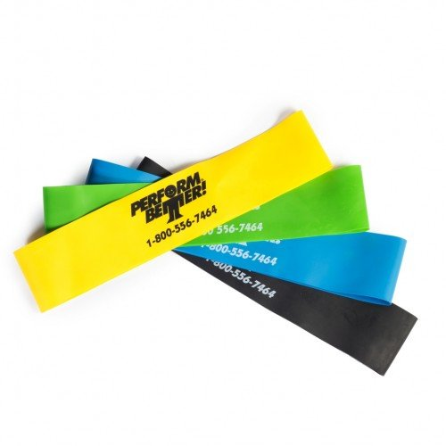 """Perform Better Exercise Mini Band, Set of 4 - All colors 9""""x 2"""""""