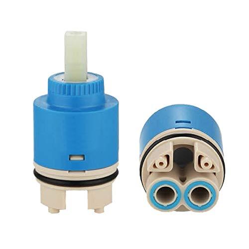 TOOLSTAR Wasserhahn-Kartusche, 1 Stück, 40 mm, Keramikkartuschenventil für Wasserhahn, Ersatzpatronen für Einhebelmischer, Badezimmer- oder Küchenarmatur (Typ B-40 mm)