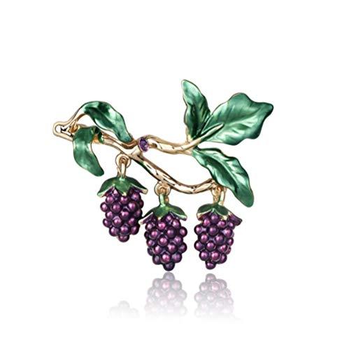 N\A Purple grape fruit Brooch Pin Enamel glaze craft brooch for Clothing Jewelry