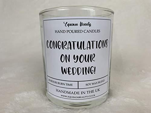 Equinox Beauty Congratulations On Your Wedding! Vela perfumada, Cita vela, regalo, 30 cl