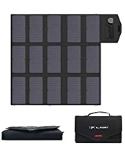 ALLPOWERS Portable Solar Panel 100W (Dual 5v USB with 18v DC Output) Monocrystalline Solar Charger Foldable Solar Panel for Laptop, Portable Generator, 12v Car, Boat, RV Battery