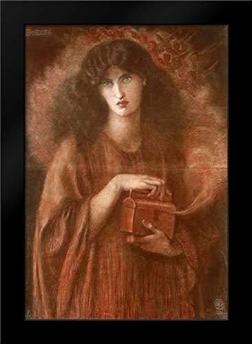 Rossetti, Dante Gabriel 28x39 Large Black Modern Framed Art Print Titled Pandora