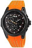 Fila Unisex Erwachsene Analog Quarz Uhr mit Silikon Armband FILA38-821-006