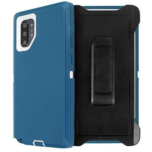 AICase - Funda para Galaxy Note 10 Plus con clip para cinturón, cuerpo completo, resistente, con protector de pantalla, a prueba de...